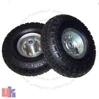 "2X 10""Inch Pneumatic Truck Trolley  Sack Replacement Wheel Barrow Tyres Garden"