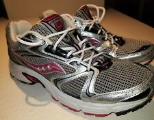 SAUCONY OASIS 2 WOMEN SHOES S15209-1 SILVER/BLACK/PINK SIZE 9.5