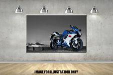 Blue Suzuki GSXR Box Canvas Colour POP Panel Posters Boys Girls Wall Art