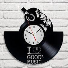 I love good music design vinyl record wall clock home decor art shop playroom