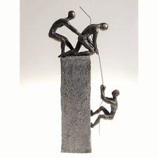 Skulptur Dekoobjekt ASSISTANCE Poly grau braun Bronzeoptik H 41cm Casablanca