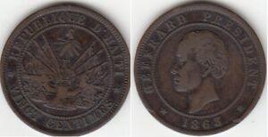 République D'Haiti 20 Centimes 1863