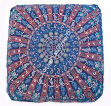 Mandala Dog Bed Ottoman Indian Boho 2 Pc Large Floor Square Cushion Pillow Cover