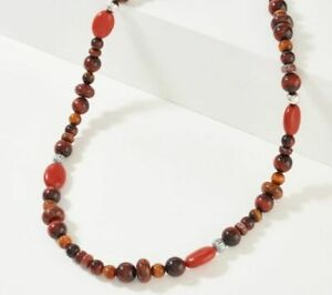 """American West Sterling Silver Unique Gemstone 17"""" Bead Necklace Retail $130"""