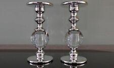 Pair of Globe Glass Pillar Holder Large Yankee Candle Co BNIB RRP: £80