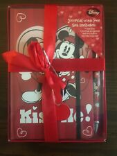 ( New ) - Disney Mickey & Minnie Mouse Journal with Pen