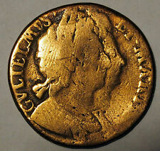 1694 Half Penny - William & Mary - Great Britain - average circulated condition