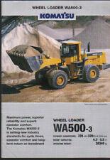 """Komatsu """"WA500-3"""" Wheel Tractor Loader Shovel Brochure Leaflet"""