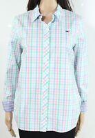 Vineyard Vines Womens Shirt Green Size 4 Button Down Palm Beach Plaid $88 461