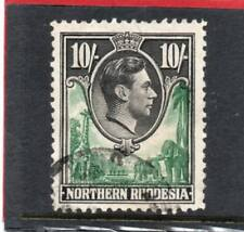 Northern Rhodesia GV1 1938-52 10s. green & black sg 44 Used