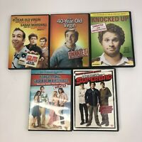 Lot of 5 DVDs 41-Year-Old Virgin Who Knocked Up Sarah Marshall Felt Superbad 40