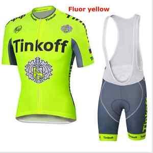 Saxo Bank Tinkoff fluorescence cycling short sleeve jersey & shorts with bib