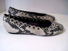 Vaneli 'Baby' Snake Print Leather Flats Size 6 1/2 M, Retails $150.00