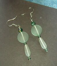 CHRYSOLITE SEA GLASS EARRINGS