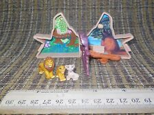 Disney The Lion King Polly Pocket Mufasa, Simba & Nala Complete Set VINTAGE HTF