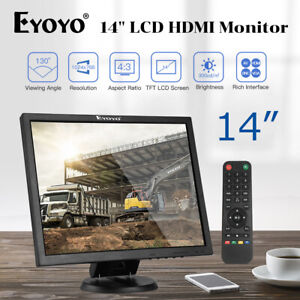 "14"" LCD TFT HDMI Monitor Professional VGA BNC AV USB 1024x768 Security Display"