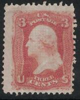 Scott 94- MNH, gum skips- F Grill, 3c George Washington- 1867- unused mint stamp