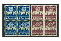 Danzig 1937 Air Defence Set/2 Stamps In Block/4 Mi.267/8 (Sc.219/20) MUH 4-14