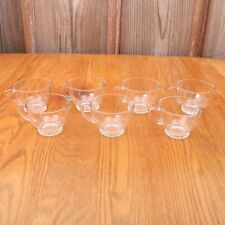 7 Clear Glass Punch Glasses Cups D Handle