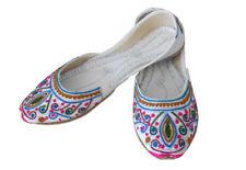 Traditional Indian Handmade Women Shoes Designer Juti Mojaries Ballet Flat US 6