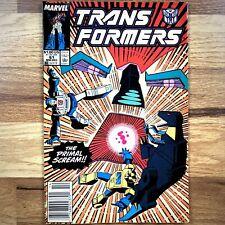 Transformers #61 Comic Book Marvel Comics 1989 Very Fine