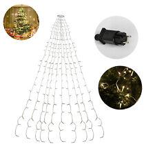 LED Lichterkette 8 Modi Innen Christbaum mit Ring 280 LEDs Warmweiß