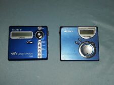 Sony Minidisc Net Md Lot Of 2 For Parts/repair Mz-N707 Typr-r Mz-Nf610 Type-s