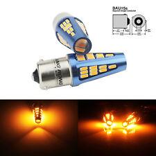 2 Ampoules BAU15s PY21W LED Orange 5W Feux Clignotant Position Ambre Lampe 9-30V