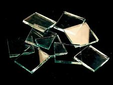 "500 Clear Smooth 1/2"" Square Hand Cut Stained Glass Mosaic Tile"