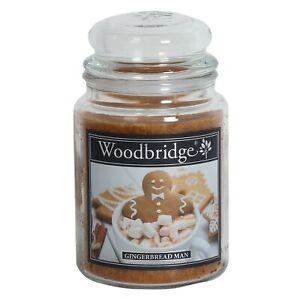Woodbridge Double Wick Large Candle Jar - Gingerbread Man