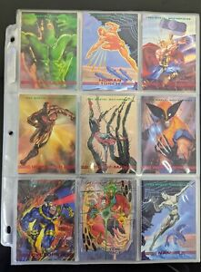 1993 Marvel Masterpieces Trading Cards COMPLETE BASE SET, #1-90, NM/M! - SkyBox