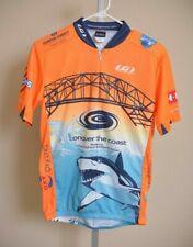 Louis Garneau Cycling Jersey Orange Blue Shark Corpus Christi Texas Men's size M