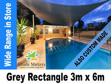New Extra Heavy Duty Shade Sail- Square 3m x 6m  Grey Color also Custom Made
