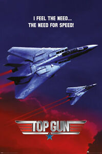 TOP GUN - NEED FOR SPEED POSTER - 24x36 - CLASSIC MOVIE 3724