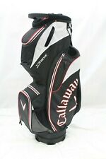 New Callaway Xtreme Cart Golf Bag (Black-White-Red) 14 Way Top Golf Bag Xtreme*