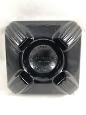 Vintage Swivodex Zephyr American Corp Black Glass Ink Well Base