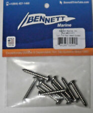 "Bennett Boat Marine Hydraulic Trim Tab 9ea 10 x 1/4"" Stainless Screw Pack EH1071"