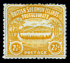 British Solomon Islands. 1907. 2 1/2d. Orange. SC# 4. SG 4. MH