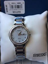 108. SeikoWomen's SUT135 Stainless Steel Diamond Accent Polar Dial Watch (450)