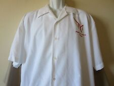 M Luxury Resort Hotel Button Down Shirt White Las Vegas Casino Size Extra Large