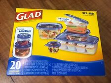 New listing New Glad Food Storage Containers Lockware 20 Containers For On The Go Bpa Free
