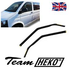 HEKO TINTED WIND DEFLECTORS for VW T5 T6 MULITVAN TRANSPORTER 2003-2016 2pc