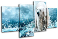 Polar Bear Animals MULTI DOEK WALL ART foto afdrukken