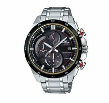 EQS-600DB-1A4 Casio SOLAR Men's Watches Stainless Steel Band Analog New