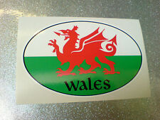 WALES / WELSH County Oval Van Car Bumper Caravan Sticker Decal 1 off 100mm
