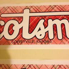 Scotsman Travel Trailer Decal Coffeyville Kansas Red Green Black & White Vintage