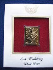 2006 Our Wedding White Dove Replica FDI FDC 22kt Gold Golden Cover Stamp