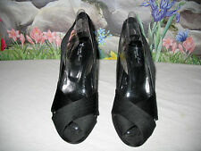 New KENNETH COLE NY Black Satin Dress Shoes Sandals 10