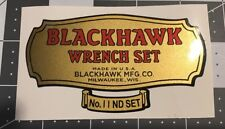 "Blackhawk Wrench Set 11 ND Decal Only For 1/4"" Set"