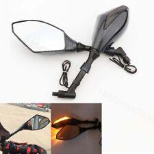 Carbon LED Turn Signal Mirrors For Honda VTX 1300 1800 TYPE C R S N F T RETRO